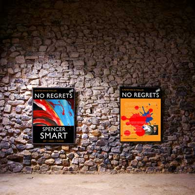 No Regrets by Spencer Smart, on the wall...